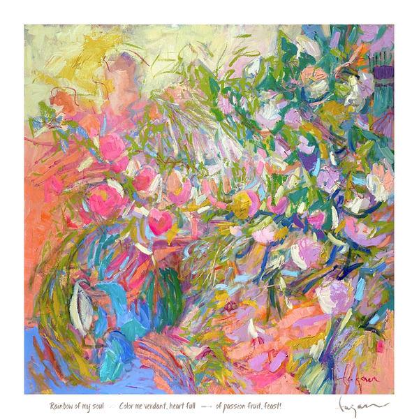 Passion Fruit Haiku Print Art | Dorothy Fagan Joy's Garden