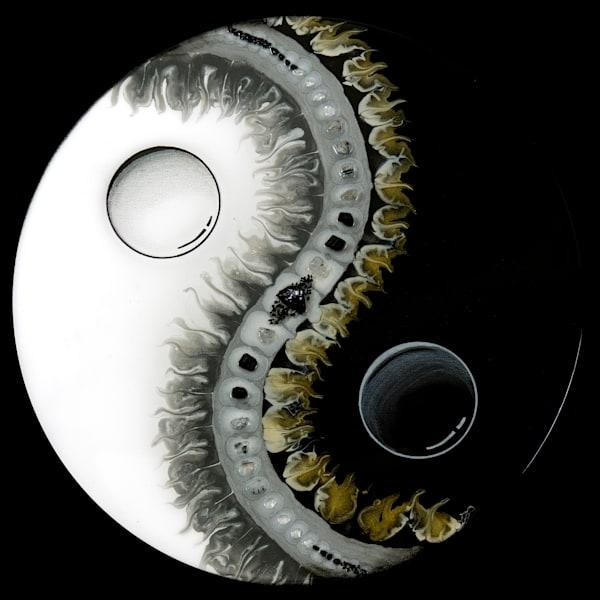 Yin Yang/Silver & Gold Art   Breathe Art Paintings