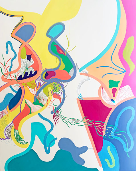 spectrum, topography, paint, art, wall art