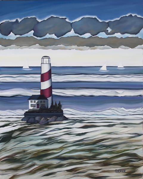 To The Lighthouse Art   Emily Gilman Beezley LLC