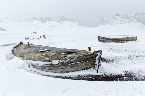 Old Whaling Boats On The Beach In Whalers Bay S6 A4898 Whalers Bay Deception Island South Shetland Islands Antarctica Photography Art   Clemens Vanderwerf Photography