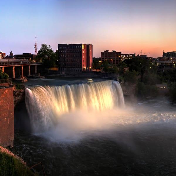 High Falls At Sunset Photography Art | RAndrews Photos