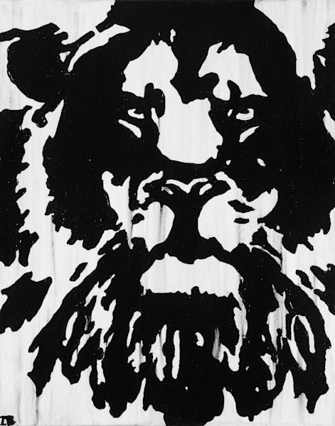 Inkblot Lion Art   Blac Rhino Art Group