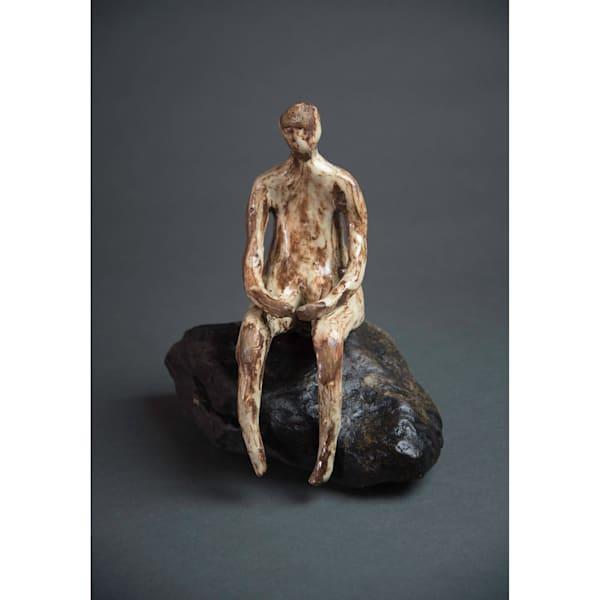Man On Rock 19 3 Art   Norlynne Coar Fine Art