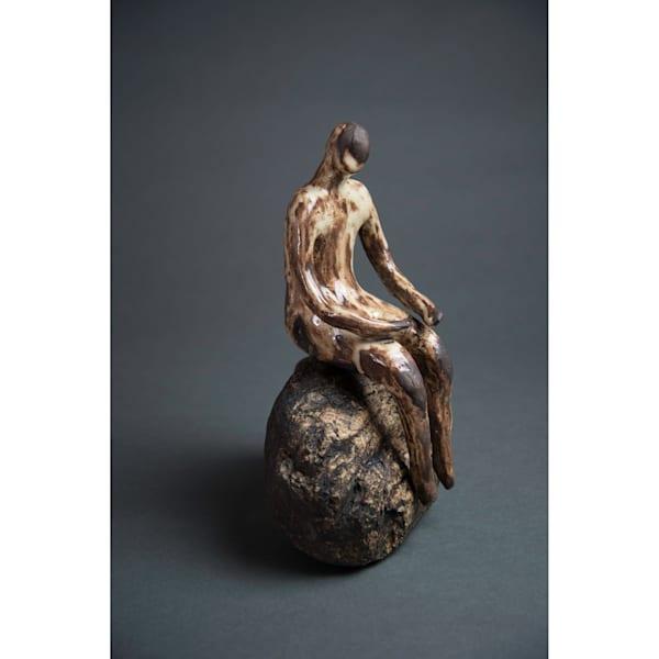 Man On Rock 19 2 Art   Norlynne Coar Fine Art