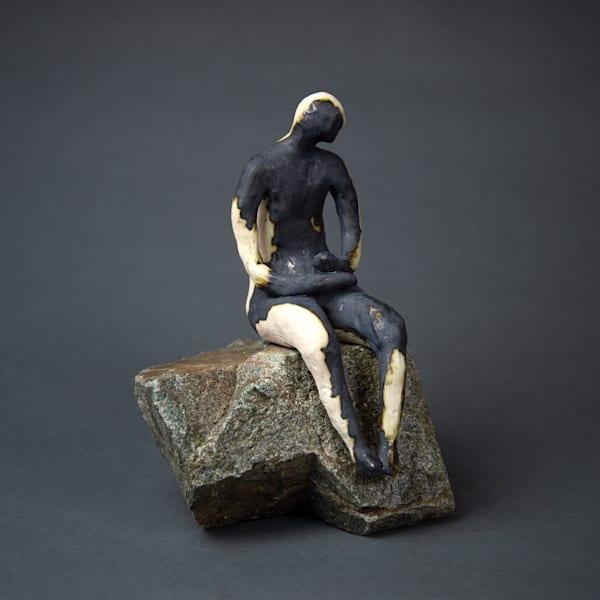 Man On Rock 19 4 Art   Norlynne Coar Fine Art