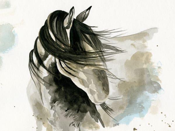 Shy Horse - Art Print- by April Moffatt