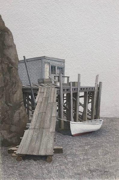 Eastport Wharf, Fog Over The Water Art | Full Fathom Five Gallery