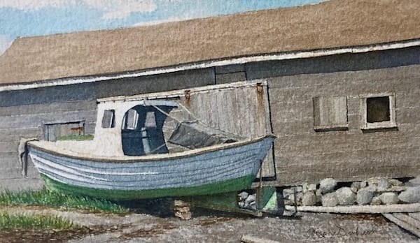Old Fish House, Eastport Art | Full Fathom Five Gallery