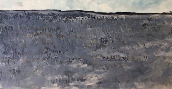 Ridge Line   Oil And Cold Wax On Panel   Sold Art | Peter Anderson Studio