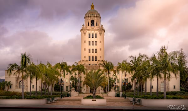 Beverly Hills City Hall Sunset Photography Art | RHS Gallery