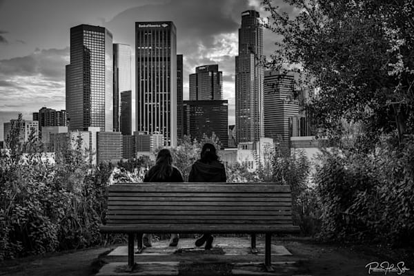 Hermosa Park Bench Couple Photography Art | RHS Gallery