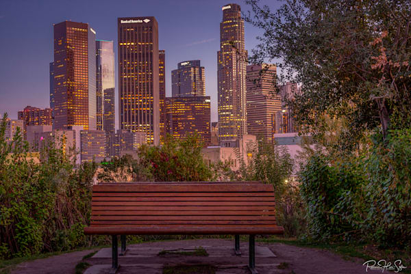 Hermosa Park Empty Bench Photography Art | RHS Gallery