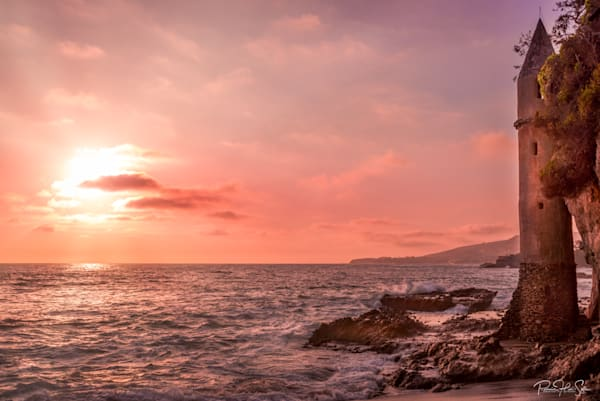 Laguna Pirate Tower Sunset Photography Art | RHS Gallery