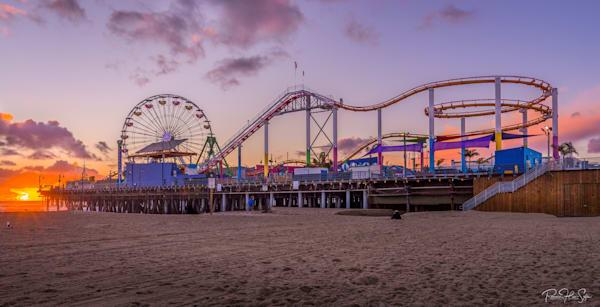 Santa Monica Pier Sunset Photography Art | RHS Gallery