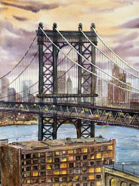 """The Brooklyn Bridge"" Art Print by Aprajita Lal"