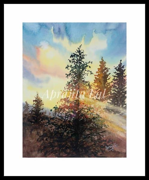"""The Drifting Morning"" in Watercolors by Aprajita Lal (Original 5x7)"
