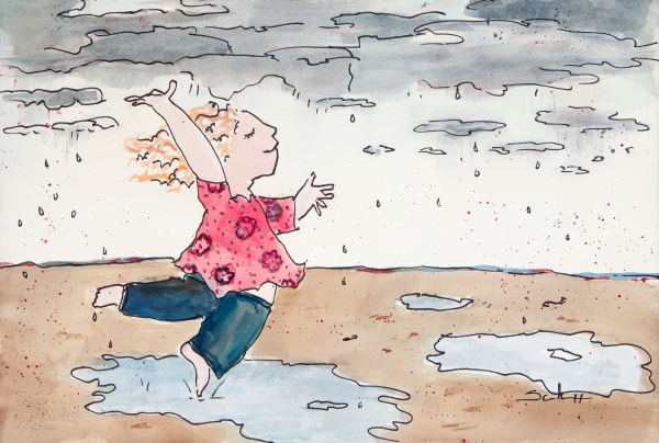 Puddle Dancer Art | Elaine Schaefer Hudson Art