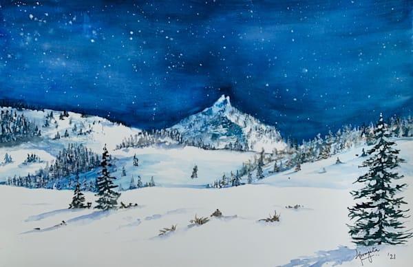 """Falling Glitters"" Art Print by Aprajita Lal"