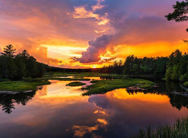 Pre Order Moose River Orange Sunset | Kurt Gardner Photogarphy Gallery