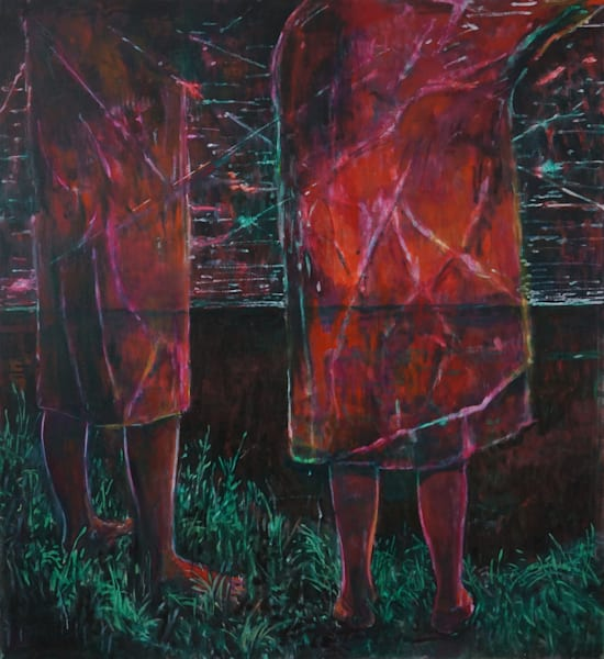 Two Beings Looking Out To The Edge Art   Jono Wright Art