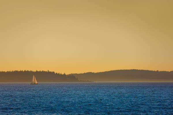 Sailboat on Puget Sound, Washington