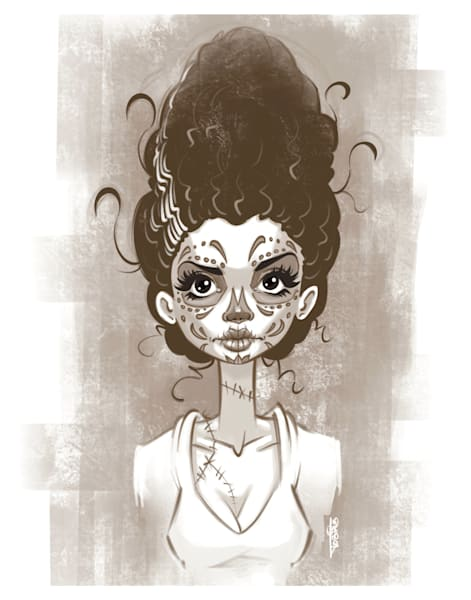 Sugar Skull Bride Art | Art By Tobias