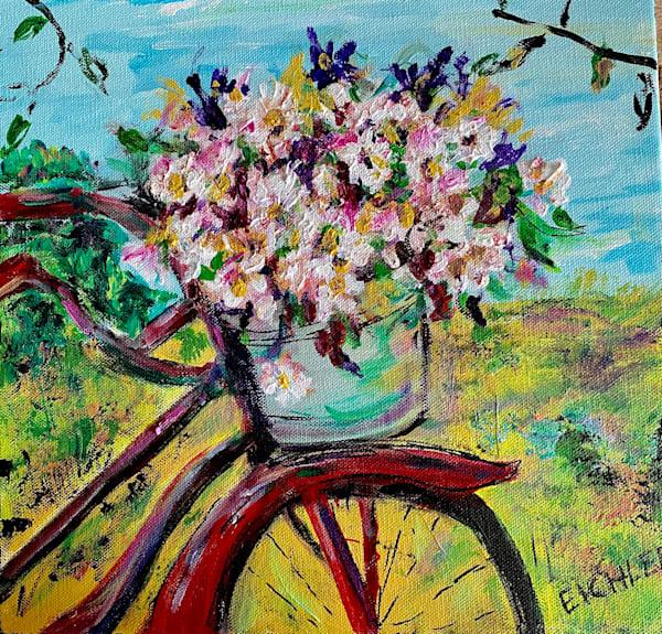"""Pedaling Petals"" Art   C.A.S.H. Art ""all things artistic"""