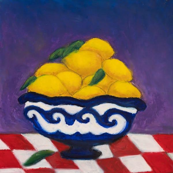 Lemons In A Bowl  Art | Norlynne Coar Fine Art