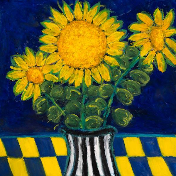 Sunflowers In A Vase Art | Norlynne Coar Fine Art