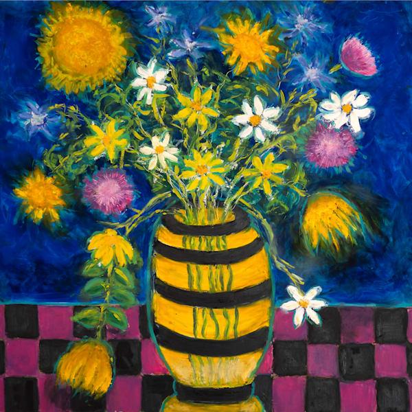 Wild Flowers In A Vase  Art | Norlynne Coar Fine Art