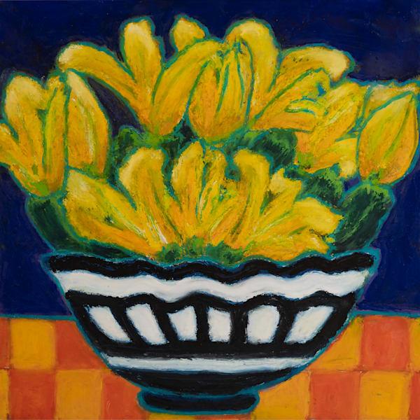 Zucchini And Flowers In A Bowl Art | Norlynne Coar Fine Art