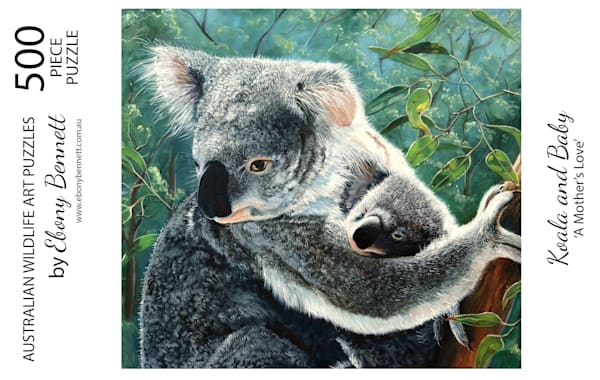 Koala and Baby - A Mother's Love (500 Piece Puzzle)