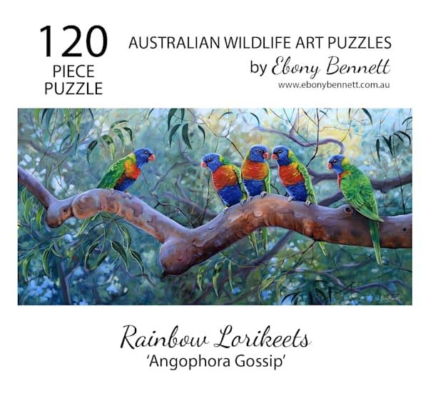 Rainbow Lorikeets - Angophora Gossip (120 Piece Puzzle)