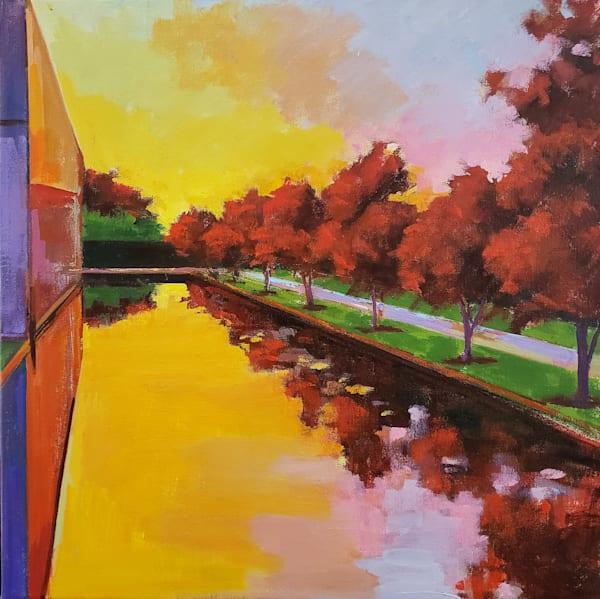 Barnes Sunset  Art   Jenn Hallgren Artist