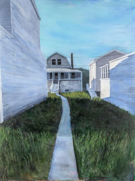 Path To Back Cottage Art | capeanngiclee