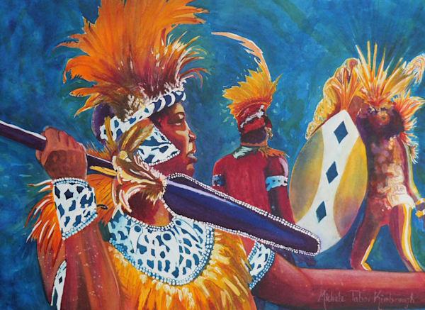 King Malik   Crucian Carnival Series Ix, Unframed Art   Michele Tabor Kimbrough