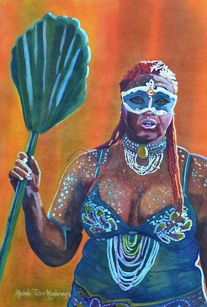 Queen Adella   Crucian Carnival Series X, Unframed Art   Michele Tabor Kimbrough