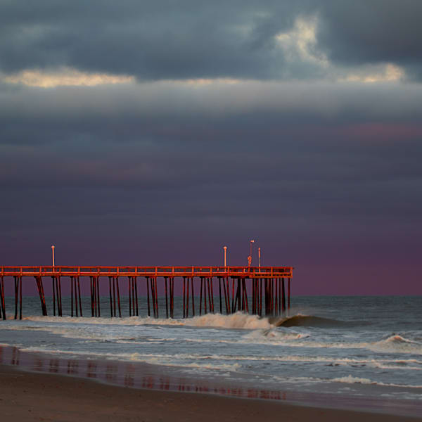 Pier And Purple Skies Photography Art   Silver Sun Photography
