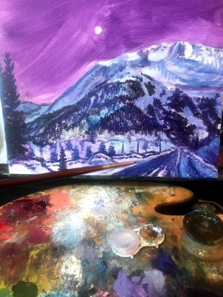 Paint Night Girdwood, Indian, Anchorage, Alaska art class BYOB, perfect for date night, painting class and more!