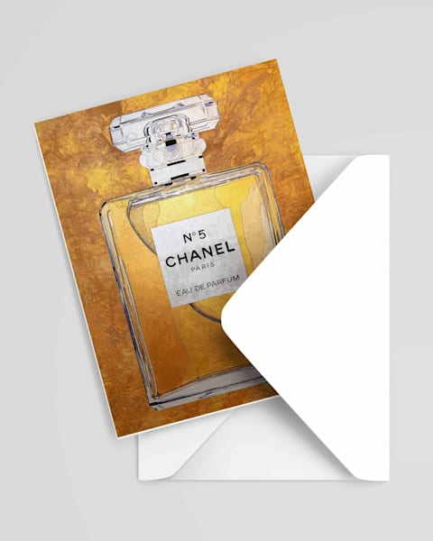 Chanel 5 Greeting Gold Card