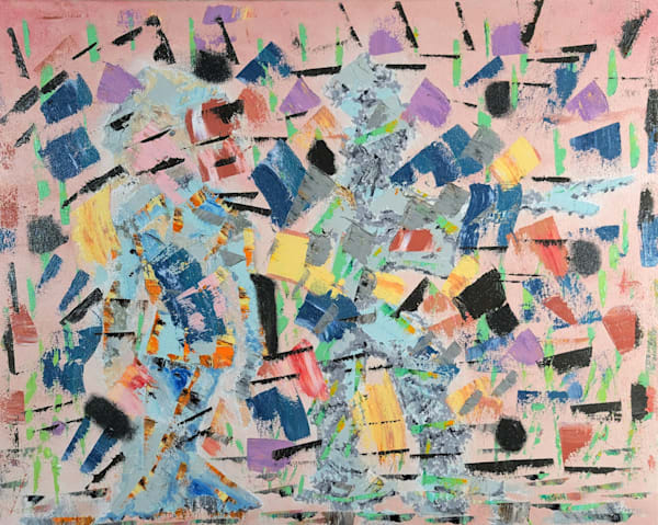 Pink Clash - Original Oil Painting