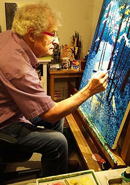 Jim Pescott In His Studio Art | Jim Pescott Art