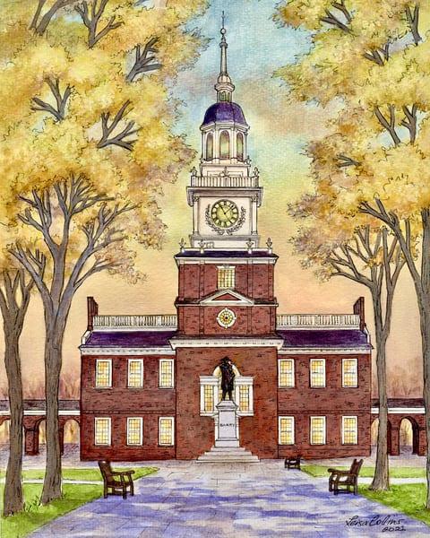 Independence Hall Philadelphia Pa Art | Leisa Collins Art