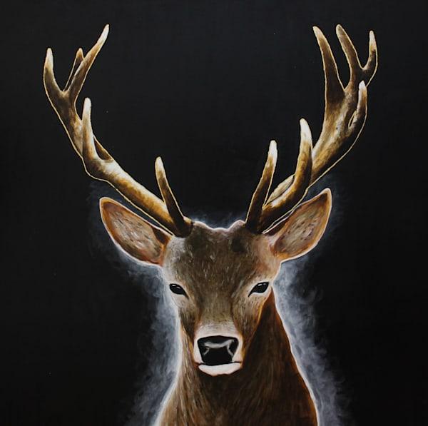 Golden Antlers Art | Brad Marr