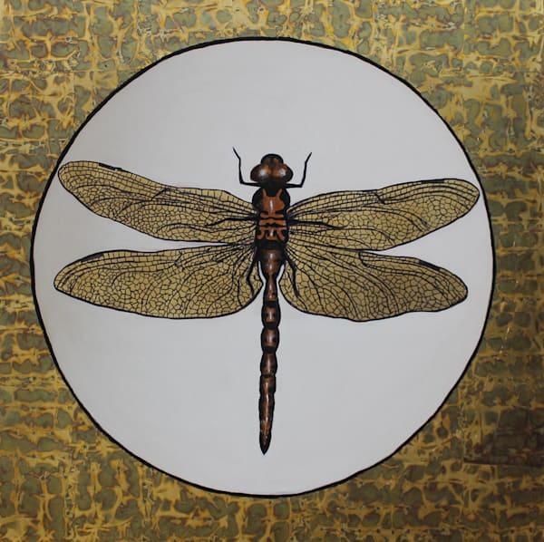 Golden Dragonfly Art | Brad Marr