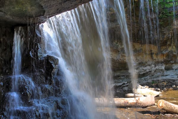 From behind the Falls in McCormick's Creek State Park, IN