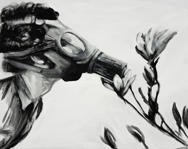 Don't Panic Just Smell The Lilies Art | Blac Rhino Art Group