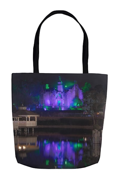 Haunted Mansion Reflection   Disney Tote Bag | William Drew Photography