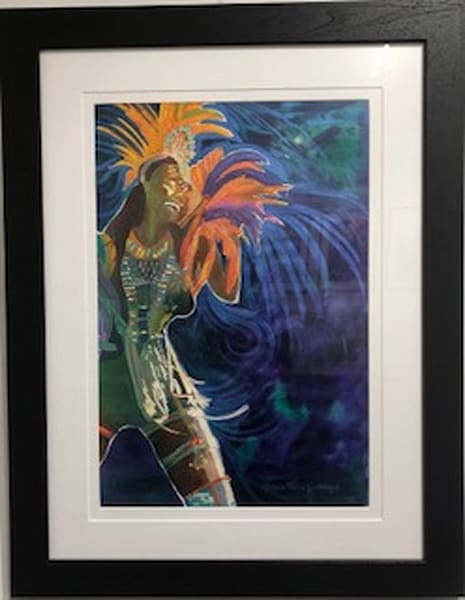 Life's A Carnival   Crucian Carnival Series V, Framed Art   Michele Tabor Kimbrough